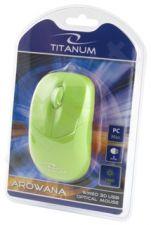 Optinė pelė Titanum TM109G AROWANA 3D| 1000 DPI |Žalia | Blisteris