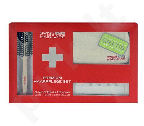 Swiss Haircare Premium Haircare Volume Kit rinkinys moterims, (apvalus šepetys + krepšys + 200ml Volume šampūnas)