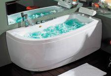 Masažinė vonia B1680 dešininė su oro ir hidromasažu 160cm