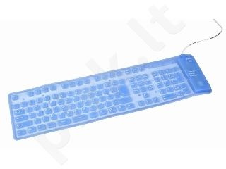 Gembird Flexible backlight keyboard, USB + PS/2 combo, blue color, US layout