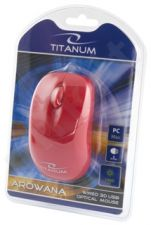 Optinė pelė Titanum TM109R USB AROWANA 3D| 1000 DPI |Raudona| Blisteris