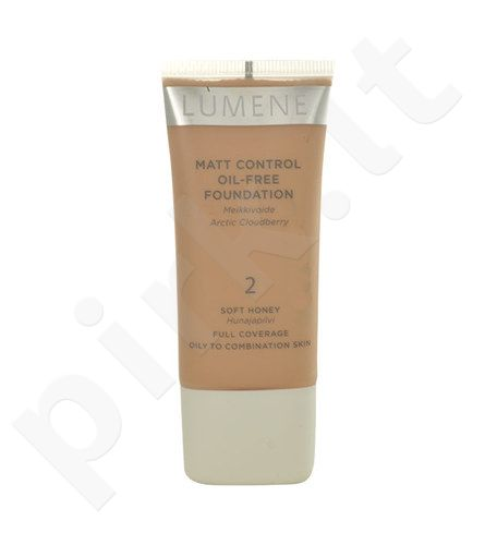 Lumene Matt Control Oil-Free Foundation, kosmetika moterims, 30ml, (3 Fresh Apricot)