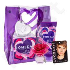Justin Bieber Someday rinkinys moterims, (EDP 30 ml + kūno losjonas 200 ml + kambario gaiviklis)