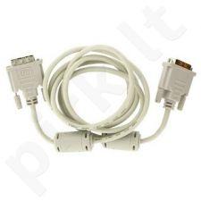 4World Monitoriaus kabelis DVI-D (18+1)-DVI-D(18+1) M/M 1.8m, SL feritas-retail