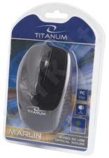 Optinė pelė Titanum TM110K USB MARLIN 3D| 1000 DPI |Juoda| Blisteris