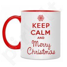 """Puodelis """"Keep calm Merry Christmas"""""""
