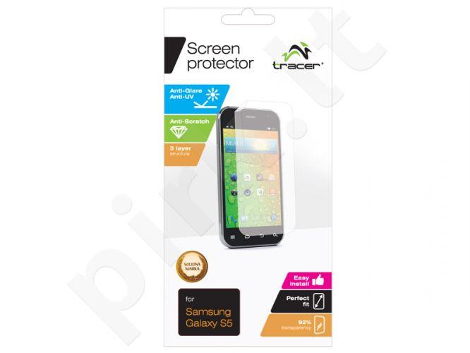 Samsung Galaxy S5 ekrano plėvelė Tracer permatoma