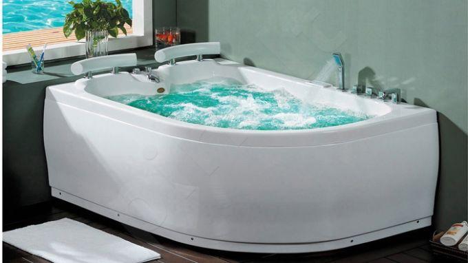 Masažinė vonia B201-1 kairinė su oro ir hidromasažu