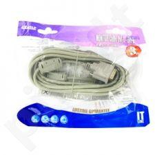 4World Monitoriaus kabelis DVI-D (18+1)- DVI-D (18+1) M/M 3m, SL feritas-retail