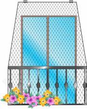 Apsauginis tinklas balkonui 2x4m