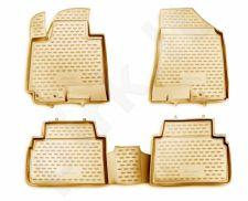 Guminiai kilimėliai 3D KIA Sportage 2010-2016, 4 pcs. /L38020B /beige