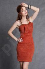 4102-2 Suknelė oranžinio atspalvio