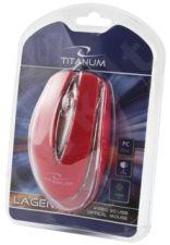 Optinė pelė Titanum TM111R USB LAGENA 3D| 1000 DPI |Raudona| Blisteris