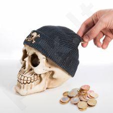 Kaukolės formos taupyklė su pirato kepure