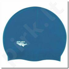 Maudymosi kepuraitė silikoninė SPURT F206 mėlynas