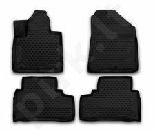 Guminiai kilimėliai 3D KIA Sorento 2015->, 5/7 seats, 4 pcs. /L38016