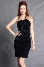 4102-3 Suknelė juodos spalvos