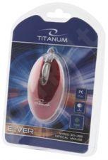 Optinė pelė Titanum TM112R USB ELVER 3D| 1000 DPI |Raudona| Blisteris