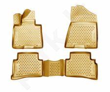 Guminiai kilimėliai 3D KIA Sportage 2016->, 4 pcs. /L38021B /beige
