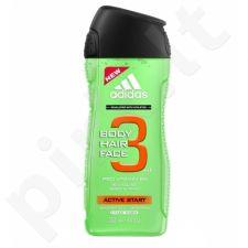Adidas Active Start, 3in1, dušo želė vyrams, 400ml