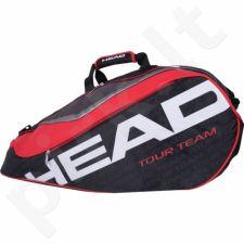 Krepšys tenisui Head Extreme 9R Supercombi 283635 juoda-raudona