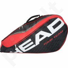Krepšys tenisui Head Tour Team 6R Combi 283236 juoda-raudona