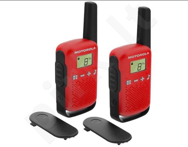 Motorola T42 short-wave radio, 4km, Red