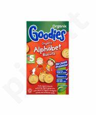 Ekologiški sausainiai vaikams nuo 12 mėn. ORGANIX GOODIES Alphabet, 5x25 g