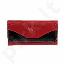 DAN-A P1A raudonai-juoda odinė piniginė , moterims