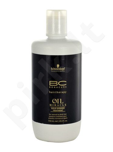 Schwarzkopf BC Oil Miracle Gold Shimmer Treatment Thick Hair, kosmetika moterims, 750ml