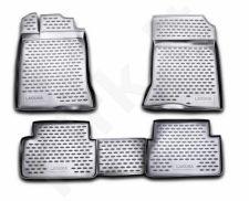 Guminiai kilimėliai 3D RENAULT Laguna 2007-2015, 4 pcs. /L54024G /gray