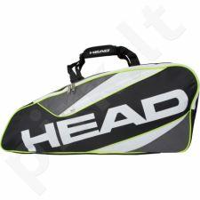 Krepšys tenisui Head Core 9R Supercombi 283295 juoda-žalio atspalvio