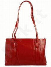 DAN-A T98 raudona rankinė iš natūralios odos klasikinė