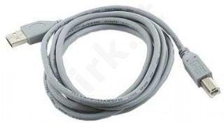 Gembird AM-BM kabelis USB 2.0 1.8M pilkas Nikelio galai