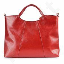 DAN-A T59 raudona rankinė iš natūralios odos , moteriška
