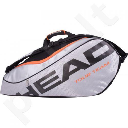 Krepšys tenisui Head Tour Team 9R Supercombi 283226 juoda-raudona