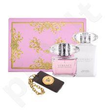 Versace Bright Crystal rinkinys moterims, (EDT 90 ml + kūno losjonas 100 ml + pakabukas prie lagamino)