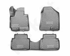 Guminiai kilimėliai 3D HYUNDAI ix35 2010-2015, 4 pcs. /L27013G /gray