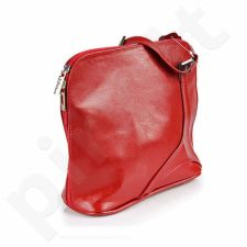 DAN-A T201 raudona rankinė iš natūralios odos