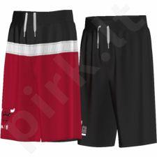 Šortai krepšiniui dvipusiai Adidas NBA Chicago Bulls Junior AP5704