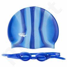 Plaukimo rinkinys ZEBRA SPURT SET SIL-20 AF BLUE + MI 10