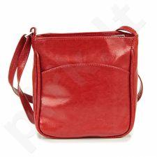 DAN-A T124 raudona rankinė iš natūralios odos , moteriška