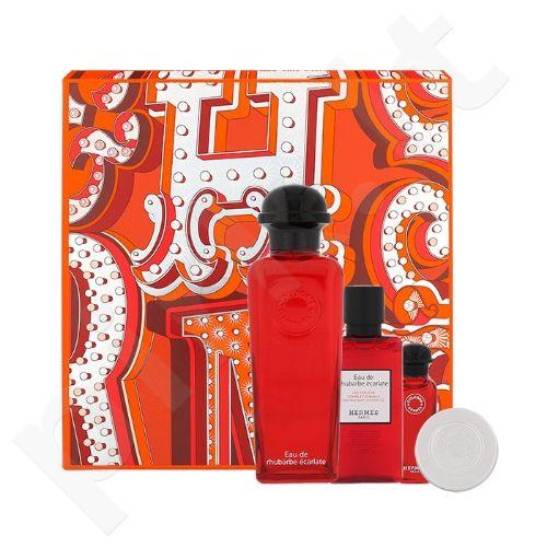 Hermes Eau de Rhubarbe Ecarlate rinkinys moterims ir vyrams, (eau de cologne 100 ml + cologne 7,5 ml + dušo želė 40 ml + drėkinamasis balzamas 10 ml)