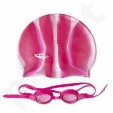 Plaukimo rinkinys ZEBRA SPURT SET SIL-20 AF PINK + MI 3