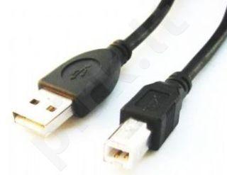 Gembird AM-BM kabelis USB 2.0 4.5m juodas Nikelio galai