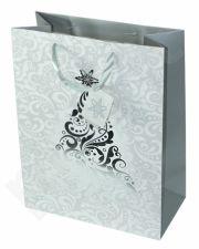Dovanų maišelis Christmas Tree Silver Large