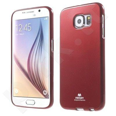 Samsung Galaxy S6 Edge dėklas JELLY Mercury raudonas