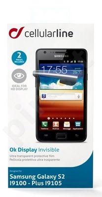 Samsung Galaxy S2 ekrano plėvelė  INVISIBLE Cellular permatoma