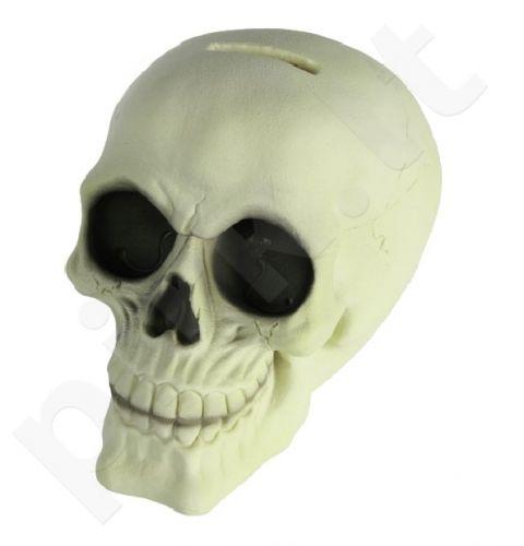Tamsoje šviečianti kaukolė - taupyklė