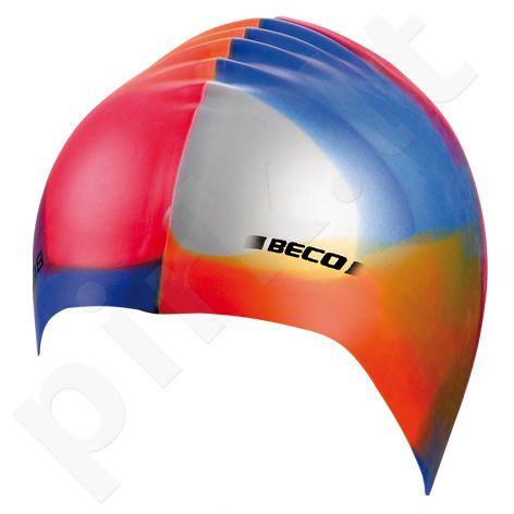Kepuraitė plaukimo unisex silikoninė 7391 399 orange/mul